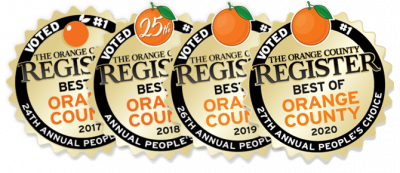 best auto repair in orange county award logos for 2017, 2018, 2019 and 2020